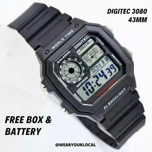 Foto Produk Jam Digitec 3080 / DG3080 /Jam Digital Mirip Casio AE-1200 dari WYLSTORE