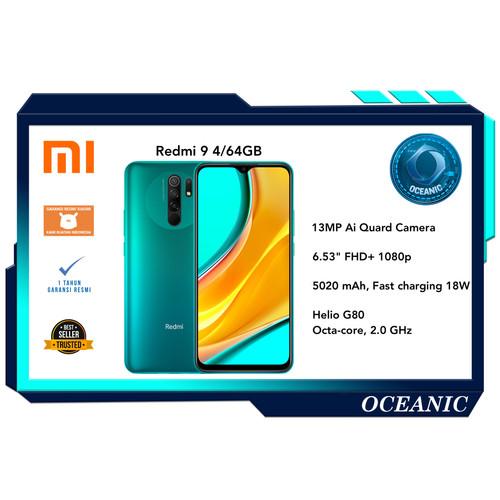 Foto Produk Xiaomi Redmi 9 4/64 4GB ROM 64GB Garansi resmi - Hijau dari Oceanic Official Store