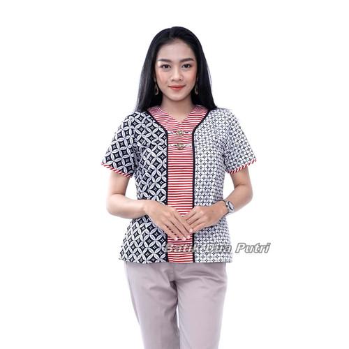 Foto Produk Blouse Batik Atasan Wanita Modern By Batik Dua Putri Collection - S dari BATIK DUA PUTRI