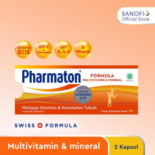 Foto Produk Pharmaton Formula 2s Multivitamin Suplemen untuk Jaga Stamina dari Sanofi Official Store