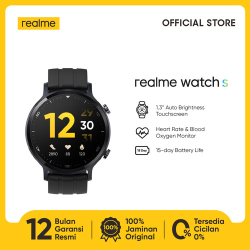 Foto Produk realme Watch S [Real-time Heart Rate & Blood Oxygen Monitor] dari realme Official Store