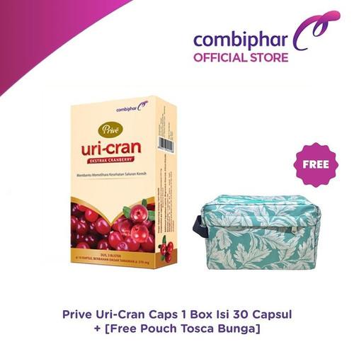 Foto Produk Prive Uri-Cran 30 capsul - Untuk Saluran Kemih - Free Pouch dari Combiphar Official Store