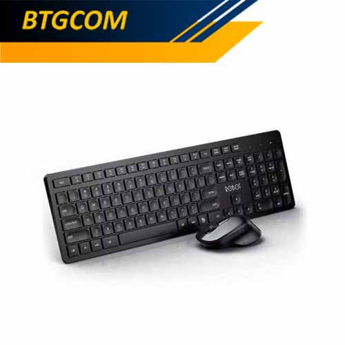 Foto Produk Robot KM4000 Silent Wireless Combo Keyboard Mouse Bundle dari BTGCOM