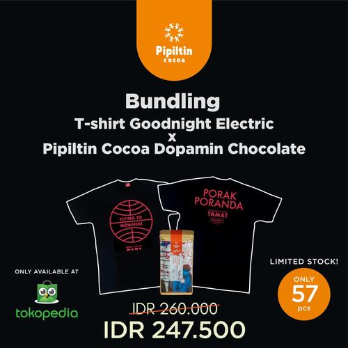 Foto Produk Bundling T-shirt Goodnight Electric x Pipiltin Cocoa Dopamin Chocolate - Black XXL dari Pipiltin Cocoa
