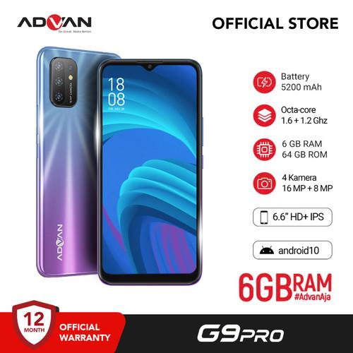 "Foto Produk Advan G9Pro 6.6"" 6GB 64GB QuadCam Octacore Android10 Garansi Resmi - Ungu dari Advan Official Store"