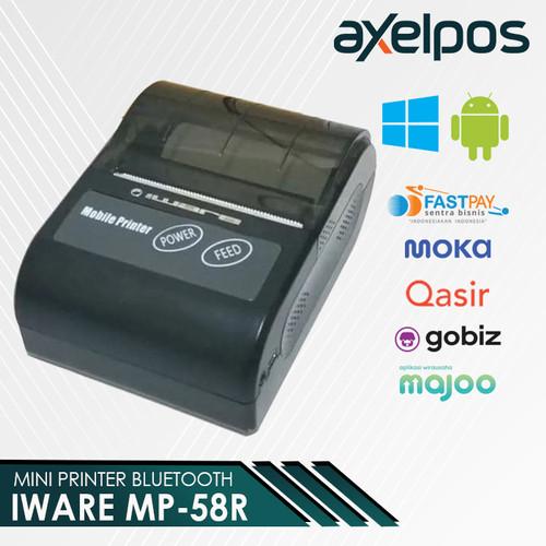 Foto Produk MOBILE PRINTER / PRINTER BLUETOOTH IWARE MP 58R (FREE COVER PRINTER) dari axelpos
