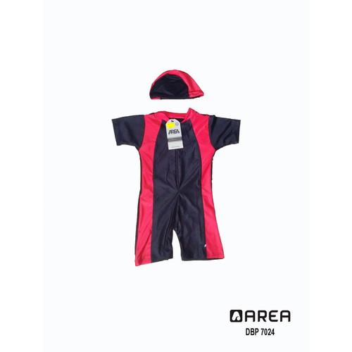 Foto Produk Baju renang anak bayi usia 1-3 tahun free topi - Merah, M dari areaberenang