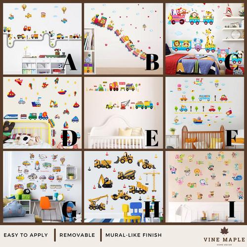 Foto Produk VineMaple Kids Learning - Stiker Dinding / Wall Sticker - A - 60x90cm dari Vine Maple Home Decor