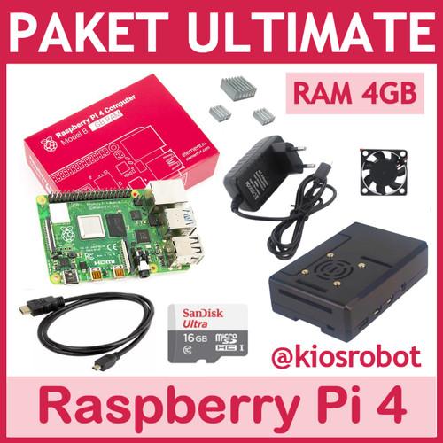 Foto Produk Paket Lengkap Ultimate Raspberry Pi 4 RAM 4GB Made in UK - Tanpa MicroSD dari KiosRobot