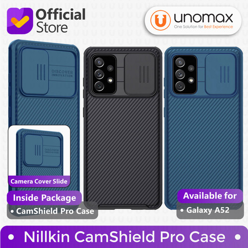 Foto Produk Case Samsung Galaxy A52 Nillkin CamShield Pro Camera Cover Casing - Black dari unomax