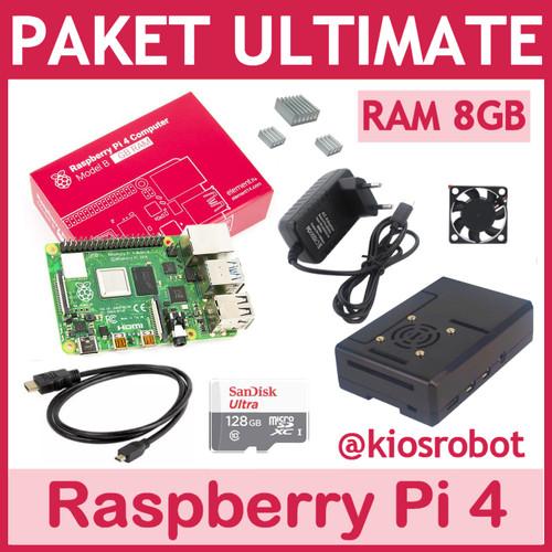 Foto Produk Paket Lengkap Ultimate Raspberry Pi 4 RAM 8GB Made in UK - Tanpa MicroSD dari KiosRobot