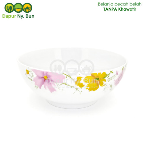 Foto Produk Mangkok Nasi Jumbo Motif Axio Flower Ukuran 9 Inch / Mangkuk Sayur dari Dapur Ny.Bun
