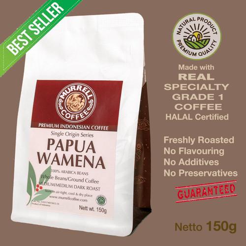 Foto Produk PAPUA WAMENA kopi arabica specialty premium biji bubuk MURRELL COFFEE - Medium Dark,Halus dari MURRELL COFFEE ROASTERS