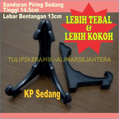 Foto Produk Sandaran piring hias / kaki piring pajangan Sedang ( Tinggi 14,5 cm ) dari Tulip'S Keramik