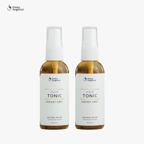 Foto Produk Green Angelica Hair Tonic Grey - Obat Penghilang Uban Rambut 60 ml x 2 dari GreenAngelica Official