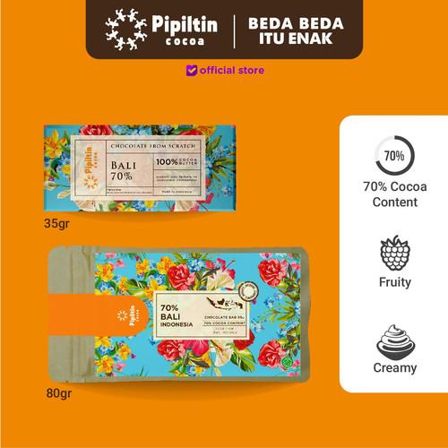 Foto Produk Pipiltin Cocoa Dark Chocolate - Chocolate Bar Bali 70% - 35gr dari Pipiltin Cocoa