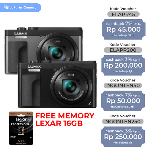 Foto Produk Panasonic Lumix DC-TZ90 TZ90 TZ 90 Pocket Digital Camera 20MP - Hitam dari JakartaCamera