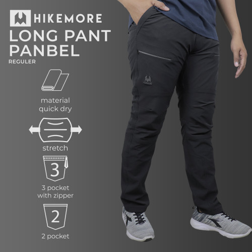 Foto Produk Celana Outdoor Gunung Quickdry Panjang Razzor Panbel Reg Original - Hikemore Black, XL dari Razzor.ID