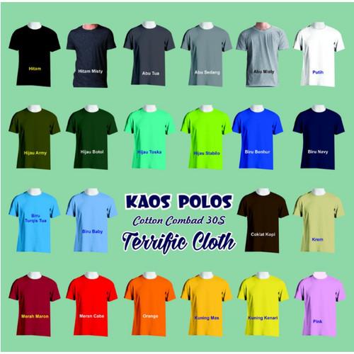 Foto Produk Kaos Polos Oblong Cotton Combed 30S Bandung SIZE XL dari Terrific