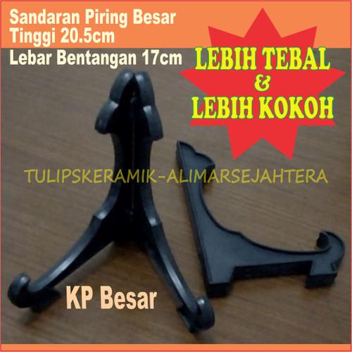Foto Produk Sandaran piring hias / kaki piring pajangan Besar ( Tinggi 20,5 cm ) dari Tulip'S Keramik