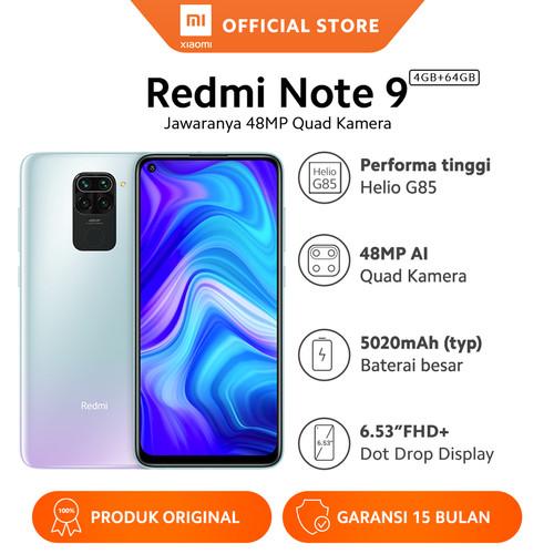 Foto Produk Xiaomi Official Redmi Note 9 4/64 GB Garansi Resmi Mi Smartphone - Polar White dari Xiaomi Official Store