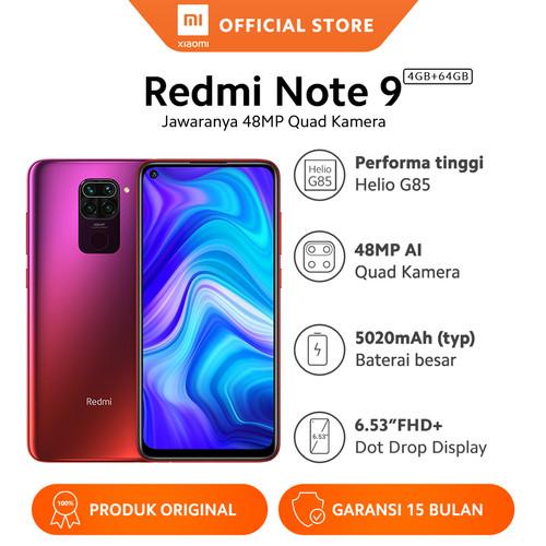 Foto Produk Xiaomi Official Redmi Note 9 4/64 GB Garansi Resmi Mi Smartphone - Sunset Red dari Xiaomi Official Store