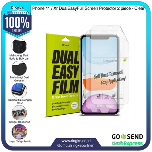 Foto Produk Ringke iPhone 11 / Xr DualEasyFull Screen Protector 2 piece - Clear dari Official Ringke Partner