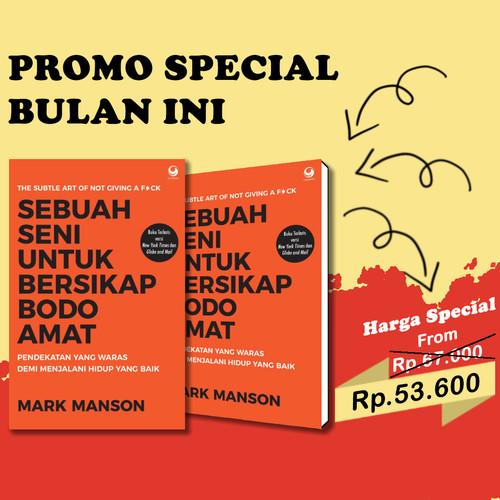 Foto Produk BARU Buku Sebuah Seni untuk Bersikap Bodo Amat . Mark Manson dari Om Botak
