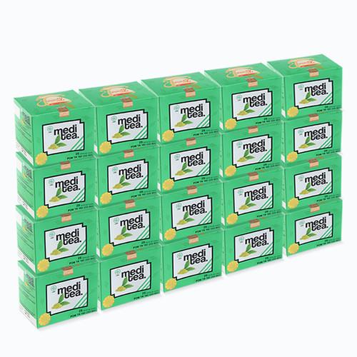 Foto Produk Paket 100 Box Meditea Teh Hijau antikanker antioksidan dan autoimun dari Mediteaid