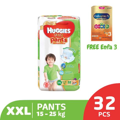 Foto Produk Huggies Gold Pants Popok Celana XXL 32 FREE Sample Enfa 3 dari KOTEX HUGGIES INDONESIA