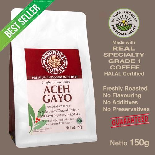 Foto Produk ACEH GAYO kopi arabica specialty premium biji bubuk MURRELL COFFEE - Medium Roast,BIJI dari MURRELL COFFEE ROASTERS