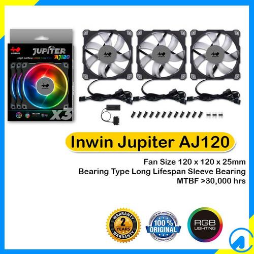 Foto Produk Inwin Jupiter AJ120 Triple Pack ARGB RGB 12cm Fan dari Artica Computer