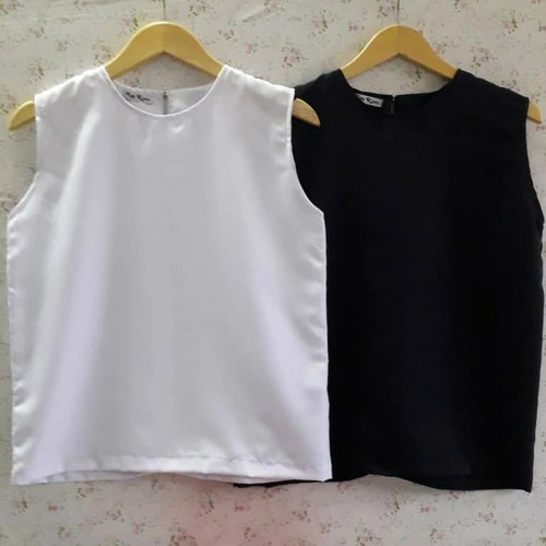Foto Produk inner tanpa lengan / dalaman blazer / RN Rania - Putih, all size dari RN Rania