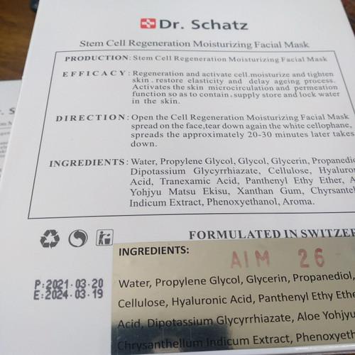 Foto Produk Dr Schatz Stem Cell Mask 100% ORIGINAL 1 BOX - 5 Sachet dari 4healthylif3