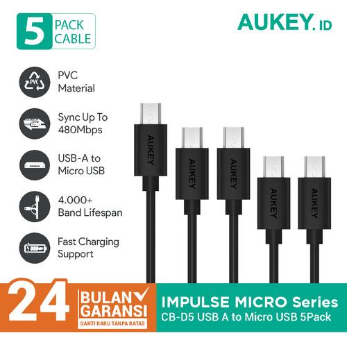 Foto Produk Aukey Cable CB-D5 Micro USB 2.0 (5Pcs) - 500256 dari Aukey Makassar