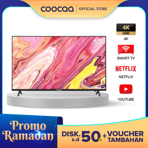 Foto Produk COOCAA Smart LED TV 50 inch 4K Netflix TV - Ultra HD- Wifi ( 50S3N) dari Coocaa Official Store