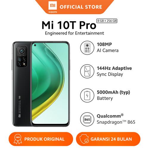Foto Produk Xiaomi Official Mi 10T Pro 8/256GB Snapdragon 865 Smartphone Andriod - Cosmic Black dari Xiaomi Official Store