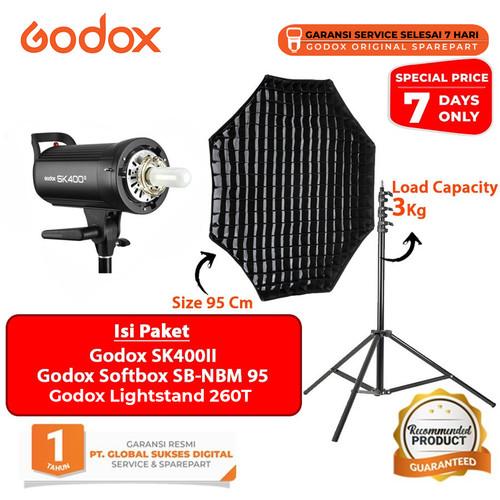Foto Produk Godox SK400II Studio Paket Softbox + Lightstand - PAKET 2 dari Godox Official Store
