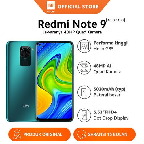 Foto Produk Xiaomi Official Redmi Note 9 4/64 GB Garansi Resmi Mi Smartphone - Forest Green dari Xiaomi Official Store