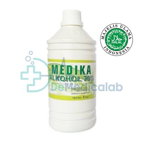 Foto Produk Alcohol 70% Alkohol 70% 1000Ml Food Grade Medika dari DeMedicalab