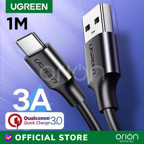 Foto Produk UGREEN Kabel Type C Charger Fast Charging 3A Cable USB Type C 60116 - 1M dari ORION Official