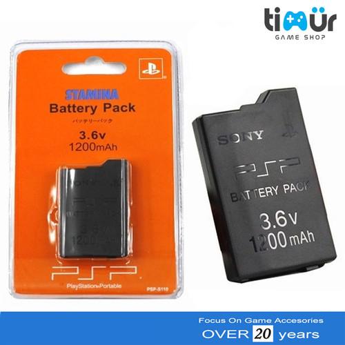 Foto Produk Batre Baterai Battery PSP Slim 2000 3000 Stamina 1200 mAh dari Timur Game Shop