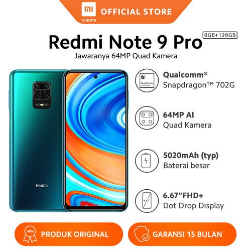 Foto Produk Xiaomi Official Redmi Note 9 Pro 8/128 GB Garansi Resmi Mi Smartphone - Aurora Blue dari Xiaomi Official Store