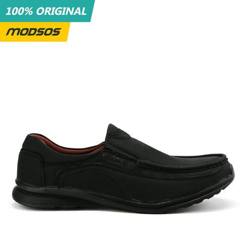 Foto Produk Sepatu Loafer Slip On Pria Watchout Original 163 Black dari Modsos