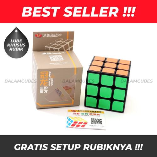 Foto Produk Rubik 3x3 - Yong Jun - YJ Guanlong - Black Base - RUBIK ONLY dari Balam Cubes