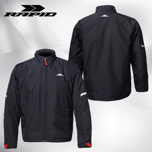 Foto Produk Skyline jaket motor pria RAPID anti angin - Hitam, SM dari Rapidjacket
