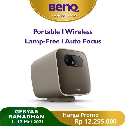Foto Produk Mini Projector BenQ GS2 Wireless Portable Bluetooth Speaker HDMI USB-C dari BenQ Official Store