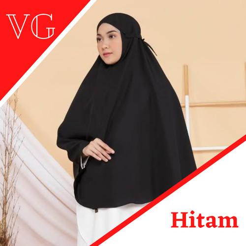 Foto Produk Hijab Instan Bergo Maryam Tali Nonpet Diamond | Bergo Maryam Jumbo - Hitam dari Veergie Store