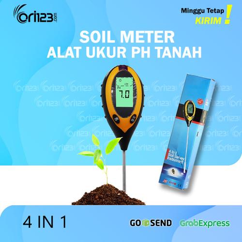 Foto Produk Digital Soil Analyzer Tester Meter Alat Ukur pH Tanah 4 in 1 SPH004 - Tanpa baterai dari Ori123com