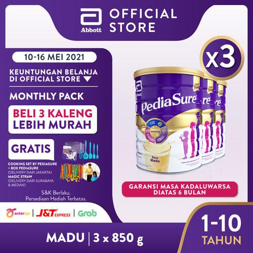 Foto Produk Pediasure Madu 850 g (1-10 tahun) Susu Formula Pertumbuhan - 3 klg dari Abbott Official Store